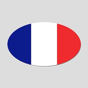 Flag of France 20x12 Oval Wall Peel