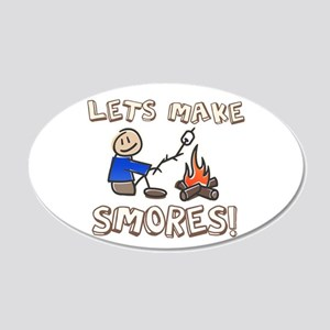 Lets Make SMORES! 20x12 Oval Wall Peel