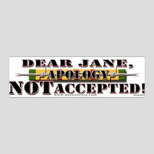"""""""Dear Jane,"""" Hanoi Jane 36x11 Wall Peel in White"""