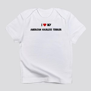 American Hairless Terrier Creeper Infant T-Shirt