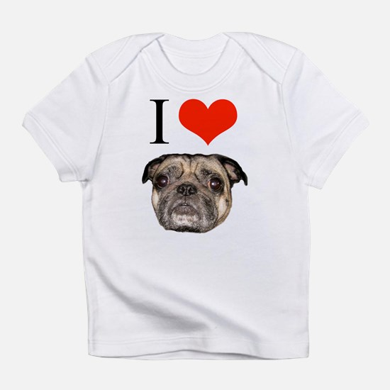 I Heart Pugs Creeper Infant T-Shirt