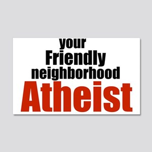 Friendly neighborhood atheist 20x12 Wall Peel