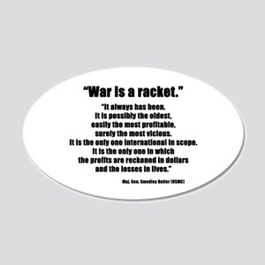 War is a Racket 20x12 Oval Wall Peel