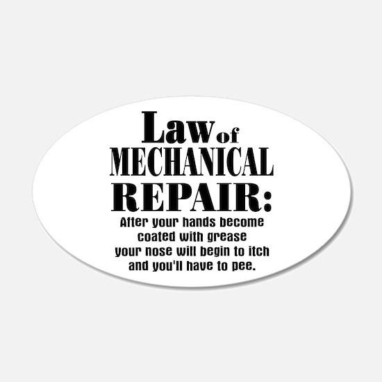 Law of Mechanical Repair: 20x12 Oval Wall Peel