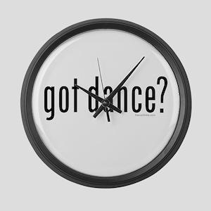 got dance? by DanceShirts.com Large Wall Clock