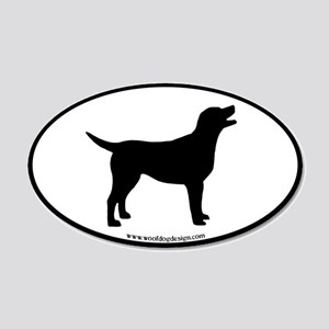 labrador retriever oval (blk bdr) 20x12 Oval Wall