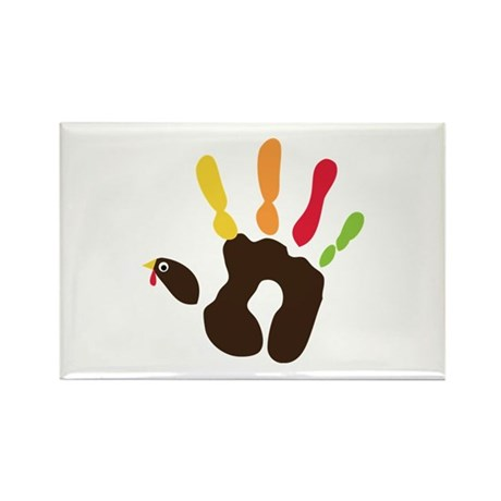 Turkey Hand Rectangle Magnet (10 pack)