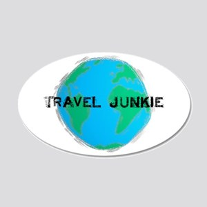 Travel Junkie 20x12 Oval Wall Peel