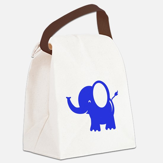 Elephant Canvas Lunch Bag