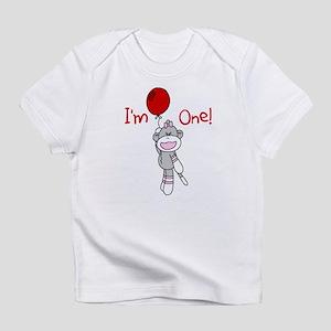 Sock Monkey 1st Birthday Infant T-Shirt