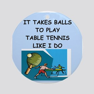 table tennis Ornament (Round)