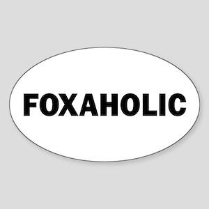 Fox aholic v2 Sticker (Oval)
