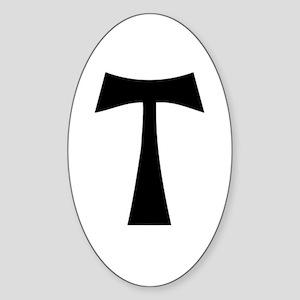 black_tau_cross Sticker