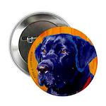 Labrador Retriever Black lab dog Button