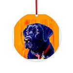 Labrador Retriever dog Ornament (Round)