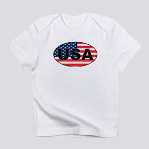 USA Flag in Oval Creeper Infant T-Shirt