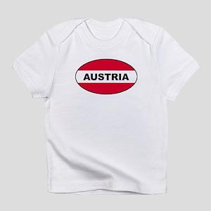 Austrian Oval Flag on Infant T-Shirt