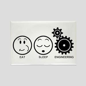 Eat Sleep Engineering Rectangle Magnet