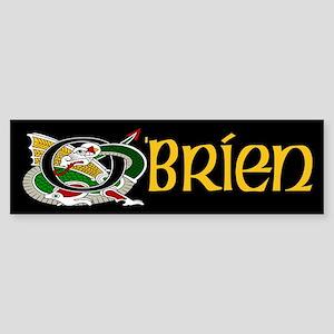 O'Brien Celtic Dragon Sticker (Bumper)