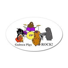Guinea Pigs Rock! 20x12 Oval Wall Peel
