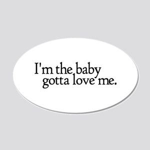I'm the Baby 20x12 Oval Wall Peel
