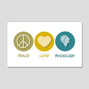 Peace Love Psychology 20x12 Wall Peel