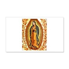 Guadalupe with Roses 20x12 Wall Peel
