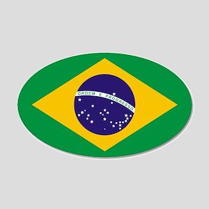 Brazil Flag 20x12 Oval Wall Peel