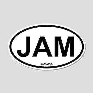 Jamaica 20x12 Oval Wall Peel