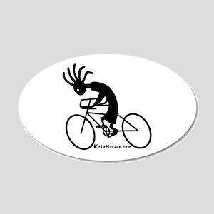 Kokopelli Road Cyclist 20x12 Oval Wall Peel