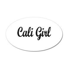 """Cali Girl"" 20x12 Oval Wall Peel"