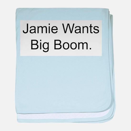 Jamie Wants Big Boom baby blanket