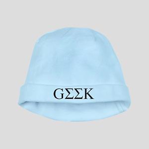 Greek Geek baby hat