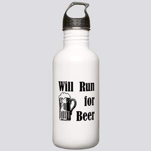 Will Run for Beer Stainless Water Bottle 1.0L