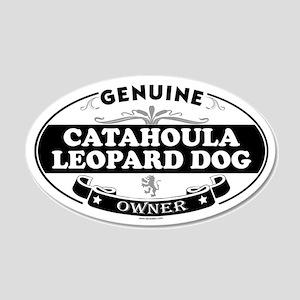 CATAHOULA LEOPARD DOG 35x21 Oval Wall Peel