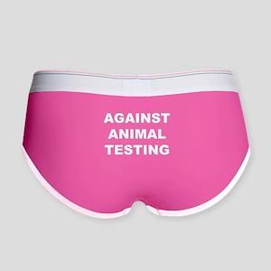 Against Animal Testing Women's Boy Brief