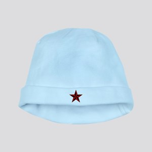 Red Star baby hat