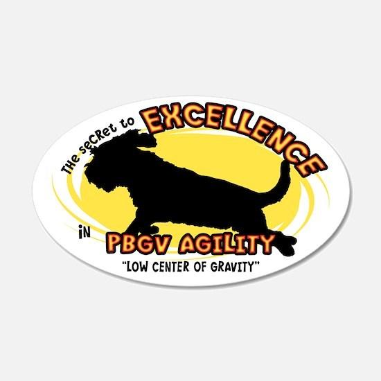 The Secret to PBGV Agility 20x12 Oval Wall Peel