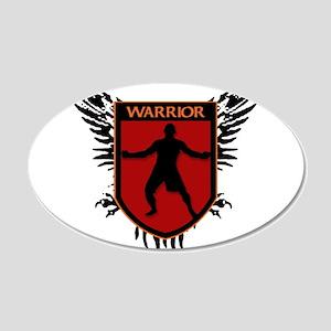WARRIOR HEART 20x12 Oval Wall Peel