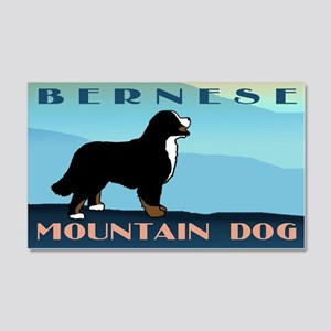 Bernese Blue Mountain 20x12 Wall Peel