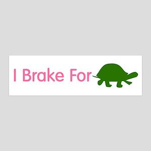 I Brake for Turtles 2 36x11 Wall Peel