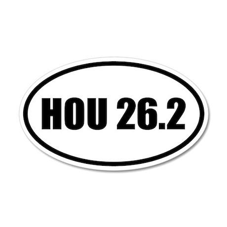 Houston Marathon 26.2 20x12 Oval Wall Peel