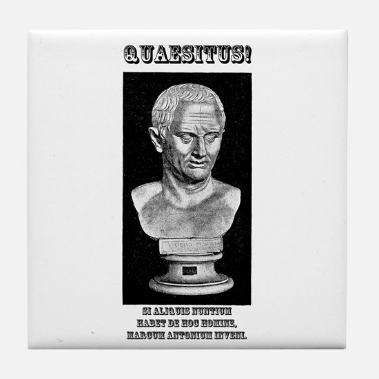 Cicero Wanted (Latin) Tile Coaster