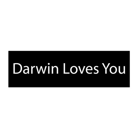 Darwin Loves You 20x6 Wall Peel