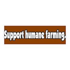 Support Humane Farming 36x11 Wall Peel