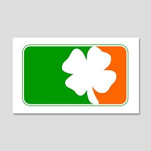 Irish Shamrock Logo 20x12 Wall Peel