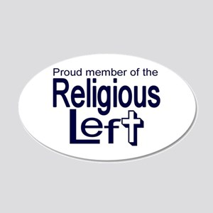 20x12 Oval Wall Peel - Proud Member of the Religio