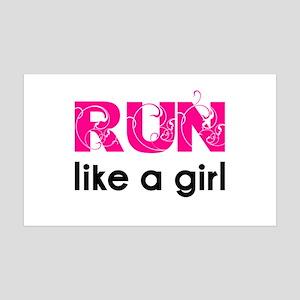Run like a girl 35x21 Wall Peel