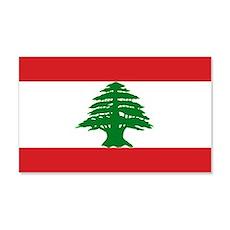 Lebanese Flag 20x12 Wall Peel