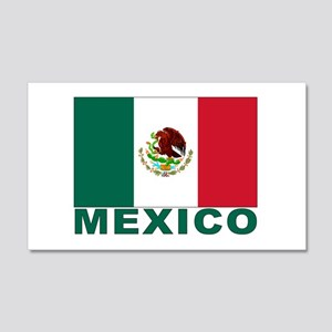 Mexico Flag 20x12 Wall Peel